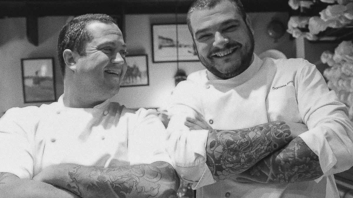 Daniele Pinna y Alejandro Feraud juntos en La Locanda
